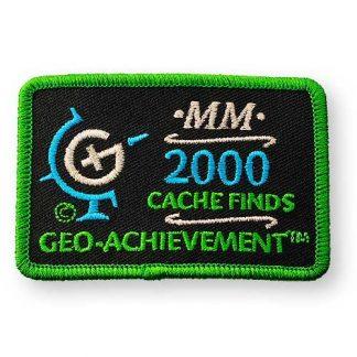 2000 najdenih zakladov - našitek-0