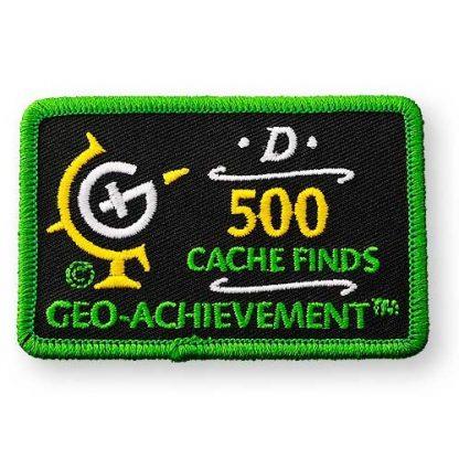 500 najdenih zakladov - našitek-0