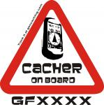 Cacher on Board sledljiva nalepka-0