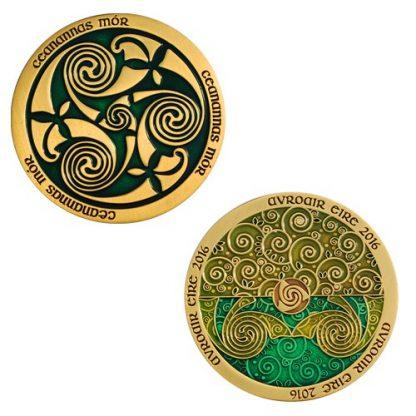 Celtic Triskele zelen geokovanec-0
