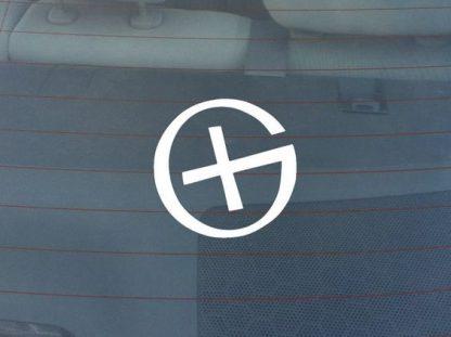 Nalepka logotip G bela-0