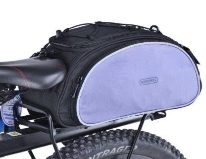 Kolesarska torba za prtljažnik - črna/siva-0