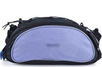 Kolesarska torba za prtljažnik - črna/siva-681