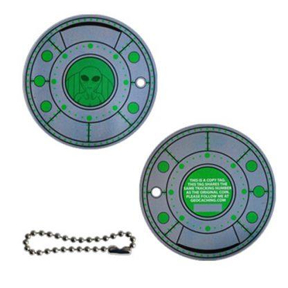 Alien Spaceship geokovanec + kopija traveltag-838